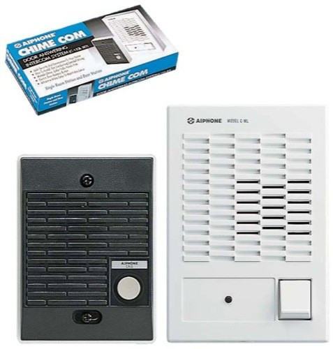 "C-123L/A: Single master intercom kit Set includes a door station (C-D) and a master station (C-ML/A). Additional masters may be added. Each master requires a separate power supply, either the SKK-620 or 4 ""C"" batteries. The door station calls the master(s) by pressing a call button that initiates a chime. Communication is is Push to talk/release to listen at the master and hands free at the door station. Communication times out after being idle for twenty seconds."